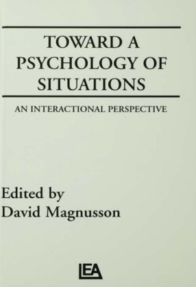 Toward A Psychology of Situations
