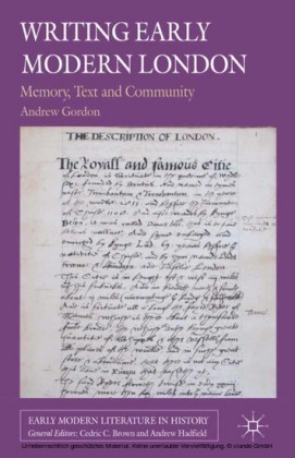 Writing Early Modern London