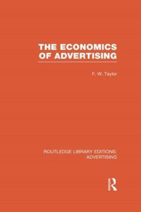 Economics of Advertising (RLE Advertising)