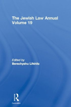Jewish Law Annual Volume 19