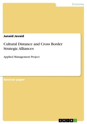 Cultural Distance and Cross Border Strategic Alliances