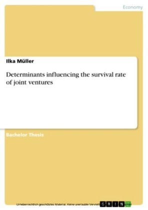 Determinants influencing the survival rate of joint ventures