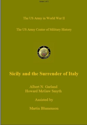 Sicily to the Surrender of Italy