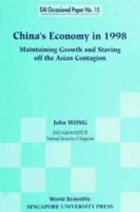 China'S Economy In 1998