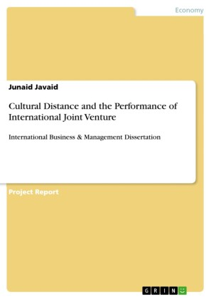 Cultural Distance and the Performance of International Joint Venture