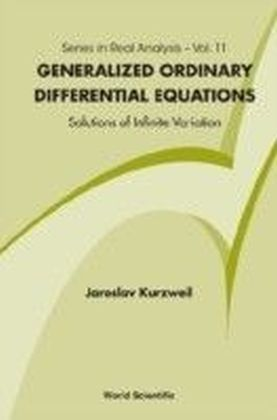 GENERALIZED ORDINARY DIFFERENTIAL EQUATIONS