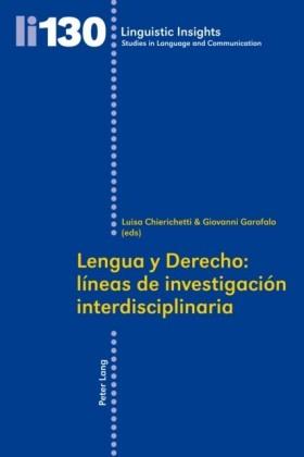 Lengua y Derecho: lineas de investigacion interdisciplinaria