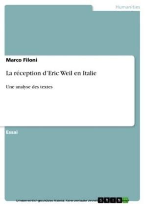 La réception d'Eric Weil en Italie
