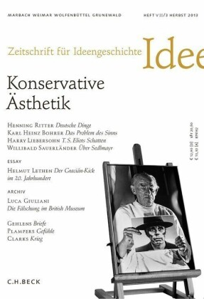 Zeitschrift für Ideengeschichte Heft VII/3 Herbst 2013