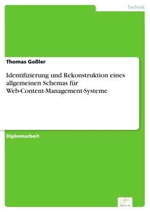 Identifizierung und Rekonstruktion eines allgemeinen Schemas für Web-Content-Management-Systeme