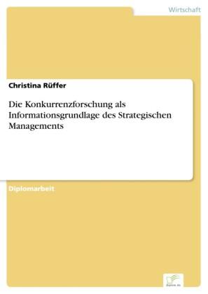 Die Konkurrenzforschung als Informationsgrundlage des Strategischen Managements