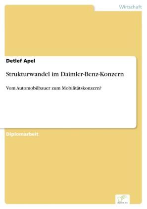Strukturwandel im Daimler-Benz-Konzern