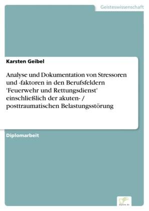 """Analyse und Dokumentation von Stressoren und -faktoren in den Berufsfeldern """"Feuerwehr und Rettungsdienst"""" einschließlich der akuten- / posttraumatischen Belastungsstörung"""