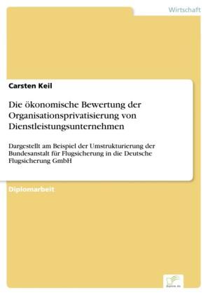 Die ökonomische Bewertung der Organisationsprivatisierung von Dienstleistungsunternehmen