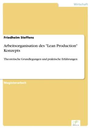 Arbeitsorganisation des 'Lean Production' Konzepts