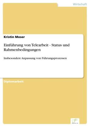 Einführung von Telearbeit - Status und Rahmenbedingungen