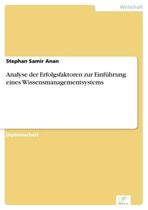 Analyse der Erfolgsfaktoren zur Einführung eines Wissensmanagementsystems
