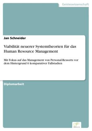 Viabilität neuerer Systemtheorien für das Human Resource Management