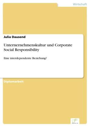 Unternernehmenskultur und Corporate Social Responsibility
