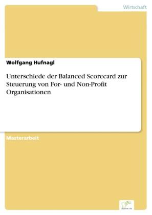 Unterschiede der Balanced Scorecard zur Steuerung von For- und Non-Profit Organisationen