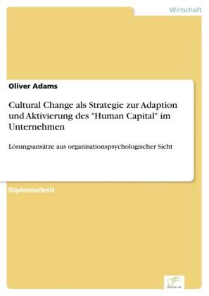 Cultural Change als Strategie zur Adaption und Aktivierung des 'Human Capital' im Unternehmen