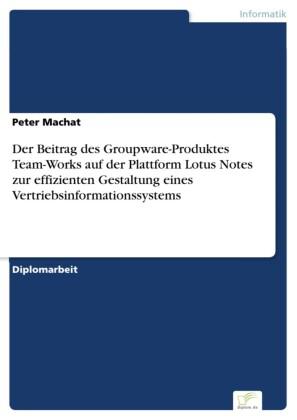 Der Beitrag des Groupware-Produktes Team-Works auf der Plattform Lotus Notes zur effizienten Gestaltung eines Vertriebsinformationssystems