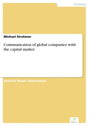 Communication of global companies with the capital market