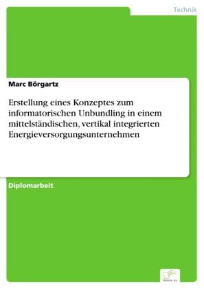 Erstellung eines Konzeptes zum informatorischen Unbundling in einem mittelständischen, vertikal integrierten Energieversorgungsunternehmen