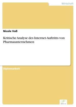 Kritische Analyse des Internet-Auftritts von Pharmaunternehmen