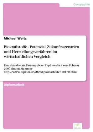 Biokraftstoffe - Potenzial, Zukunftsszenarien und Herstellungsverfahren im wirtschaftlichen Vergleich