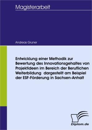 Entwicklung einer Methodik zur Bewertung des Innovationsgehaltes von Projektideen im Bereich der Beruflichen Weiterbildung - dargestellt am Beispiel der ESF-Förderung in Sachsen-Anhalt