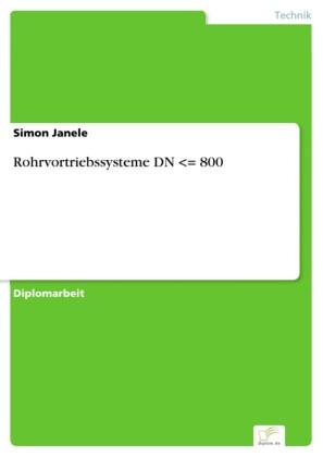 Rohrvortriebssysteme DN = 800
