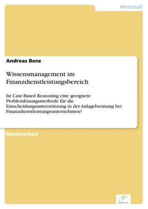 Wissensmanagement im Finanzdienstleistungsbereich