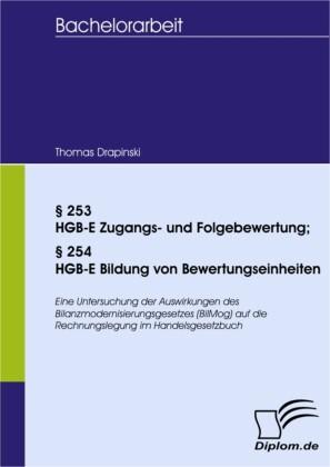 253 HGB-E Zugangs- und Folgebewertung; 254 HGB-E Bildung von Bewertungseinheiten
