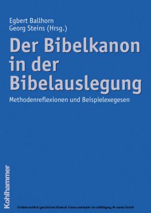 Der Bibelkanon in der Bibelauslegung
