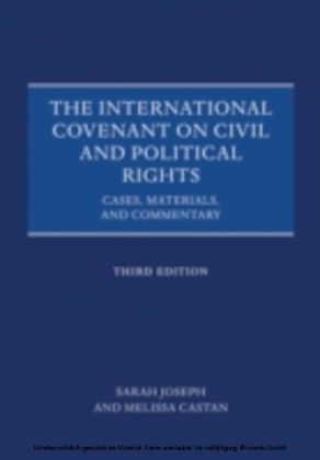 International Covenant on Civil and Political Rights: Cases, Materials, and Commentary
