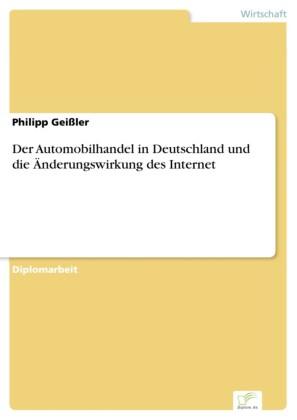 Der Automobilhandel in Deutschland und die Änderungswirkung des Internet
