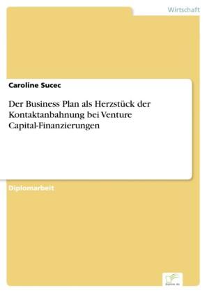 Der Business Plan als Herzstück der Kontaktanbahnung bei Venture Capital-Finanzierungen