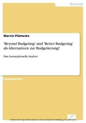 'Beyond Budgeting' und 'Better Budgeting' als Alternativen zur Budgetierung?