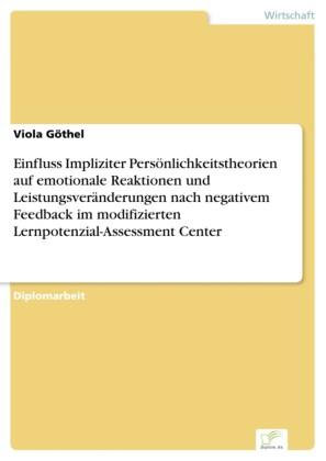 Einfluss Impliziter Persönlichkeitstheorien auf emotionale Reaktionen und Leistungsveränderungen nach negativem Feedback im modifizierten Lernpotenzial-Assessment Center