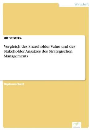 Vergleich des Shareholder Value und des Stakeholder Ansatzes des Strategischen Managements