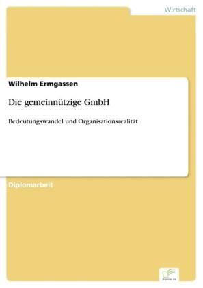 Die gemeinnützige GmbH