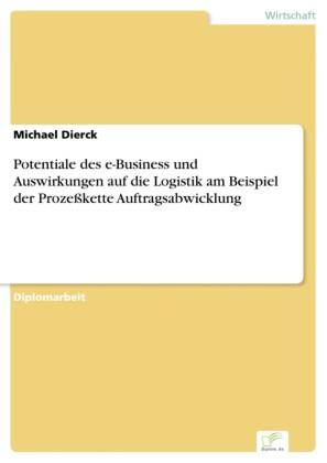 Potentiale des e-Business und Auswirkungen auf die Logistik am Beispiel der Prozeßkette Auftragsabwicklung