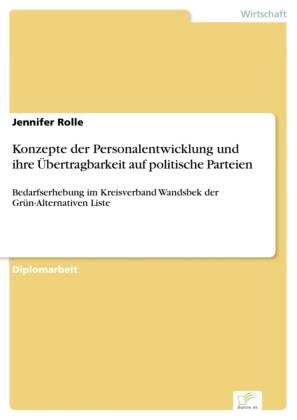 Konzepte der Personalentwicklung und ihre Übertragbarkeit auf politische Parteien