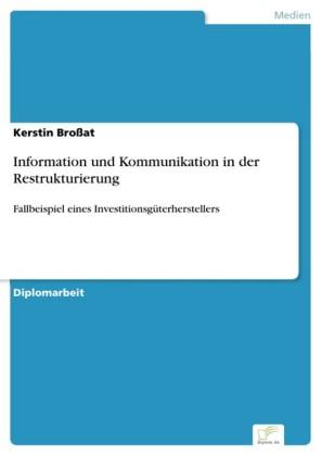 Information und Kommunikation in der Restrukturierung