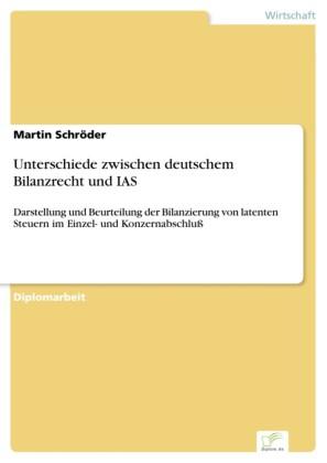 Unterschiede zwischen deutschem Bilanzrecht und IAS