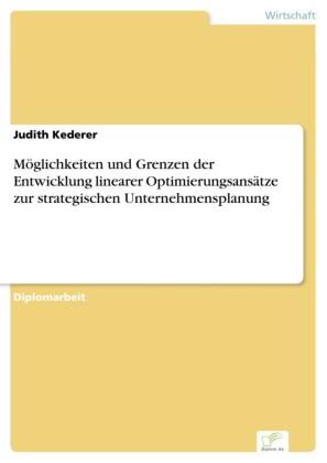 Möglichkeiten und Grenzen der Entwicklung linearer Optimierungsansätze zur strategischen Unternehmensplanung