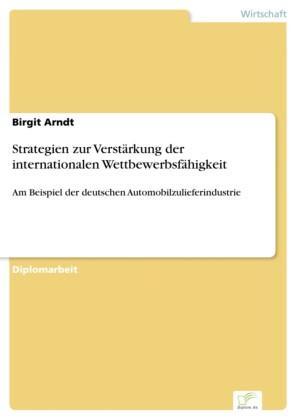 Strategien zur Verstärkung der internationalen Wettbewerbsfähigkeit