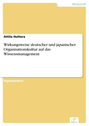 Wirkungsweise deutscher und japanischer Organisationskultur auf das Wissensmanagement
