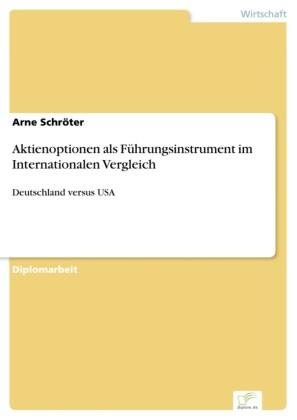 Aktienoptionen als Führungsinstrument im Internationalen Vergleich